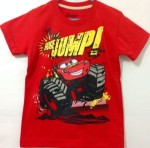 (7T-10T) baju anak lightning Mcqueen Car -Huge jump