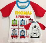 baju anak thomas and friends putih (1T-6T)