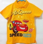 baju anak mcqueen cars kuning polo(3T,4T,5T,6T)