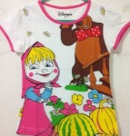 baju anak Masha and the bear coklat (7T-10T)