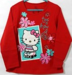 baju anak hello kitty lengan panjang flower red (1T-6T)