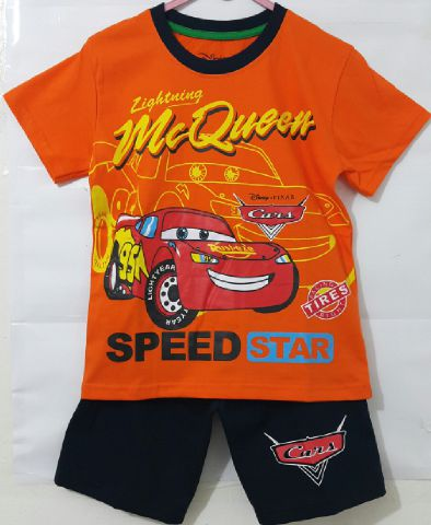 baju anak setelan-mc-queen-speed-orange
