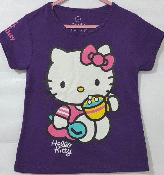 kaos- baju anak hello-kitty-ungu