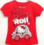 (7T-10T)Baju anak Hello kitty roll glitter red