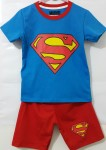 (7T-10T) kaos anak setelan superman red blue