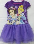 baju anak  Dress tutu princess Ungu ( 1-6T)