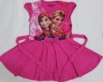 baju anak Mini dress pink ( 1-6)