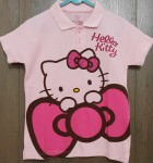 baju anak polo hello kitty pita pink(3-6)