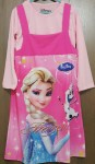Dress 2pcs frozen elsa olaf pink (4-14) grosir baju muslim frozen,