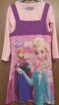 Dress 2pcs frozen ungu (4-14)