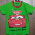 kaos anak lighting mcqueeen hijau (1-6)