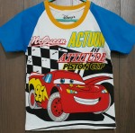 baju anak raglan car the lighting mcqueen biru(1-6)