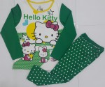 piyama Hello kitty green pita glitter ( 1-6)