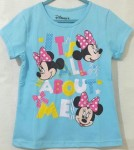 baju anak minnie mouse sky blue ( 1-6)