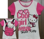 baju anak hello kitty(1-6)cool girl wear pink