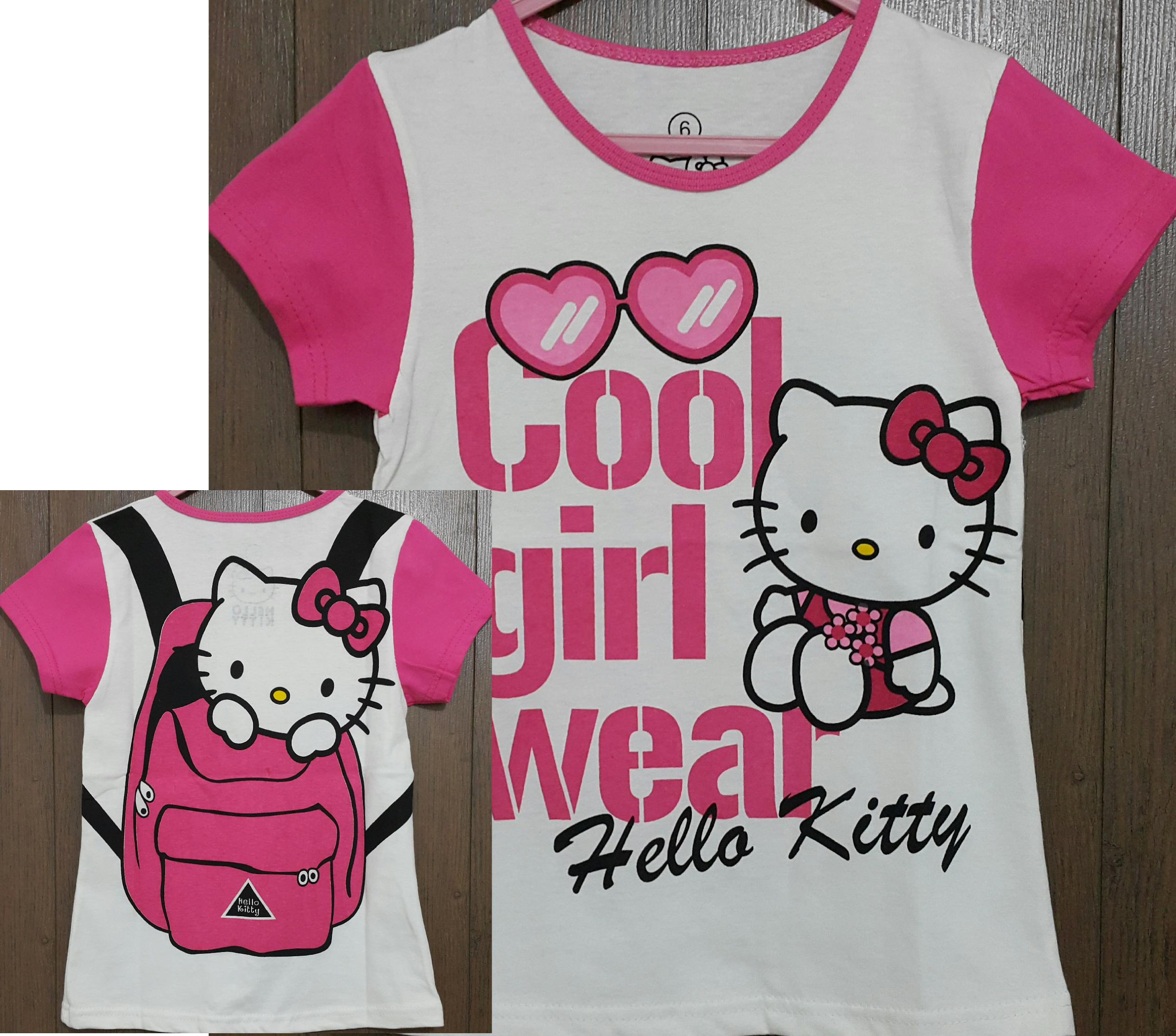 baju anak hello kitty cool girl pink