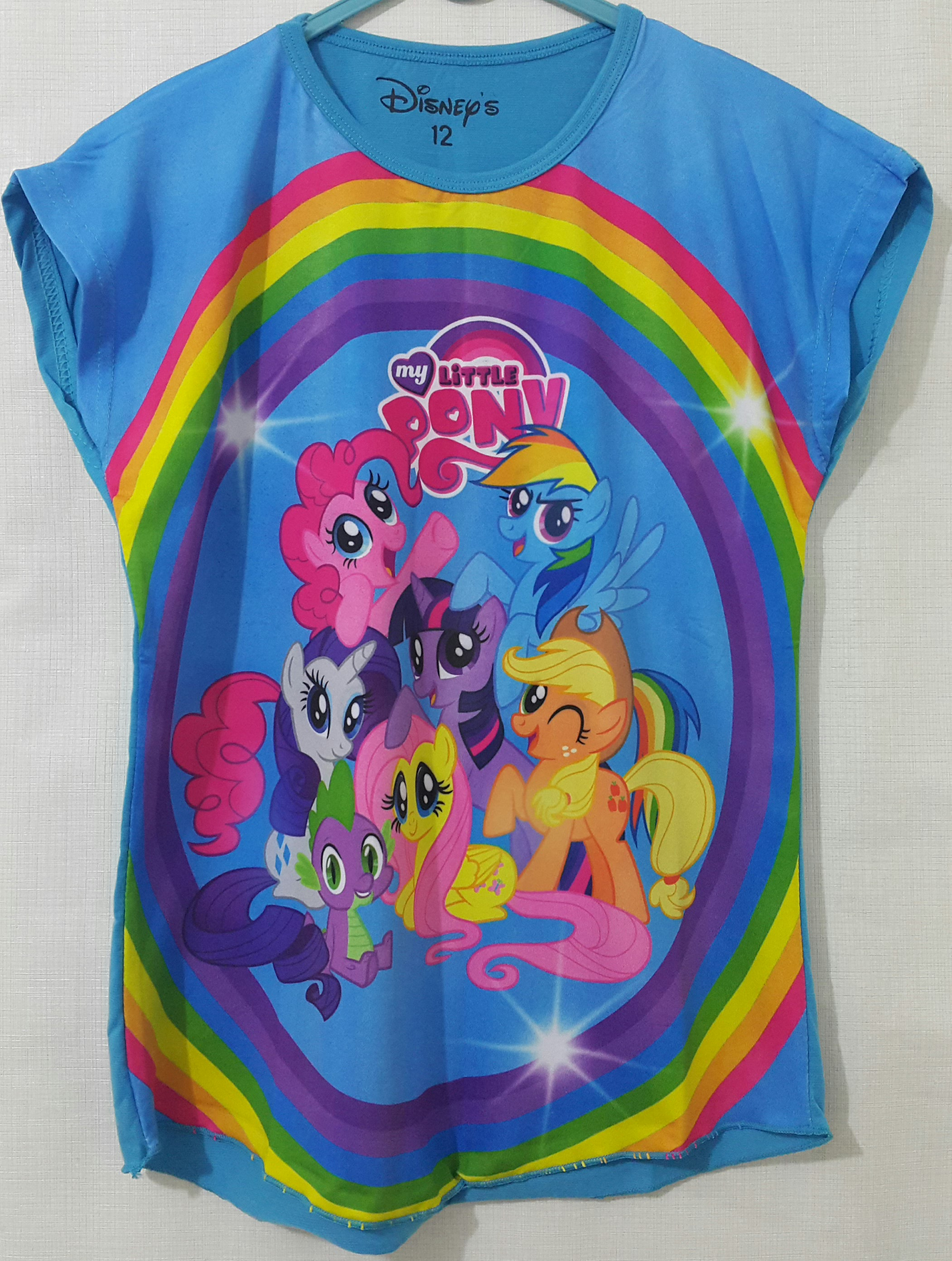 batwing little pony circle blue