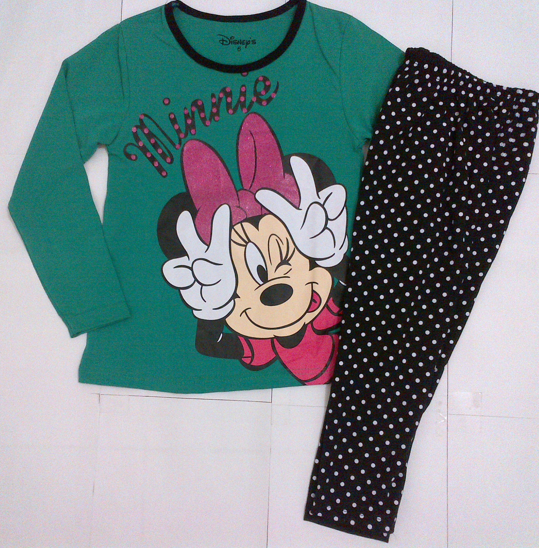piyama minnie mouse hijau