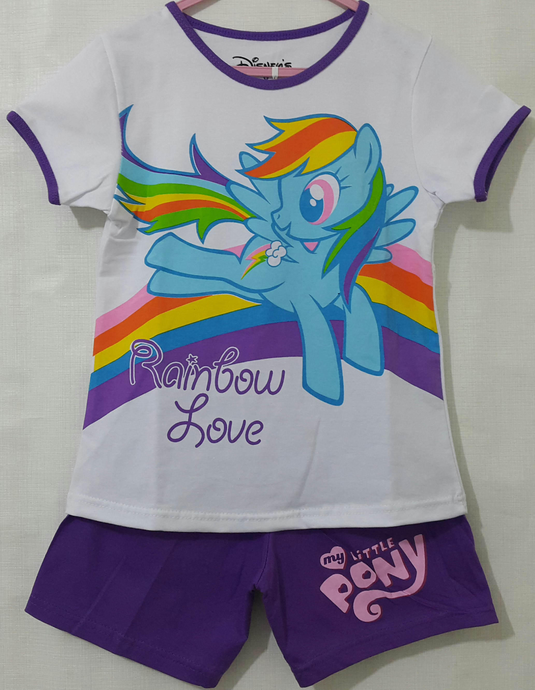 setelan little pony putih