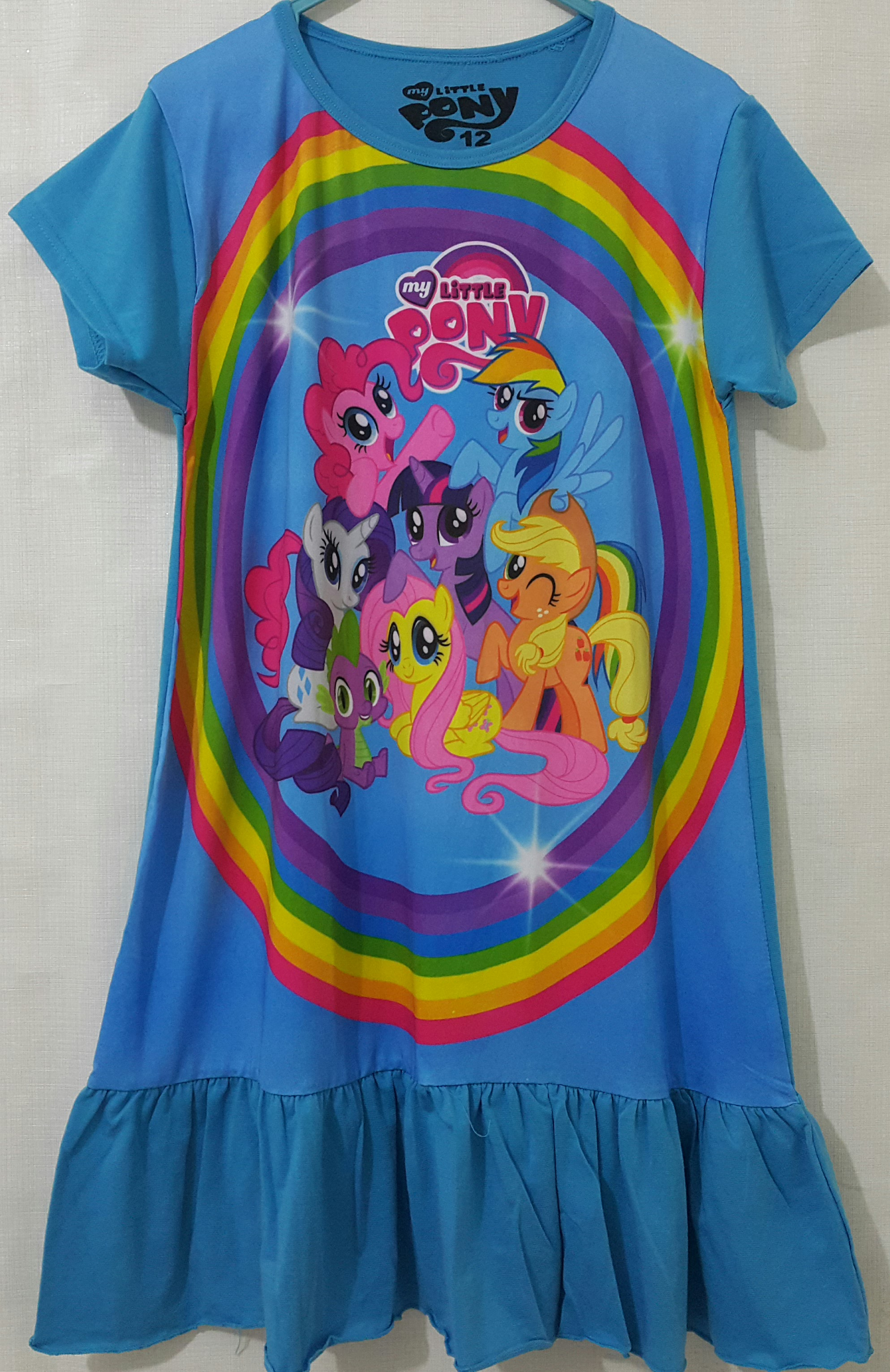 daster little pony biru