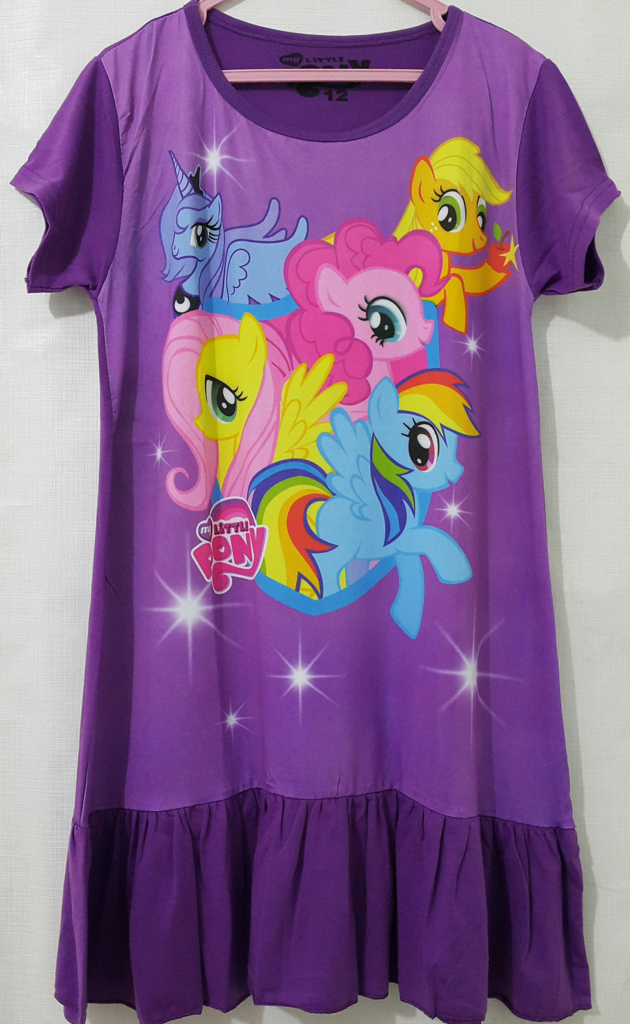 daster little pony ungu