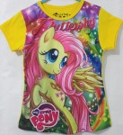 kaos little pony full print yellow (1-6)