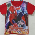 kaos printing amazing spiderman red(1-6)