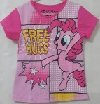 baju anak little pony free hugs pink(1-6)