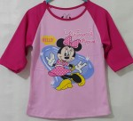 kaos anak minnie mouse love pink, lengan 3/4 ( 1-6)