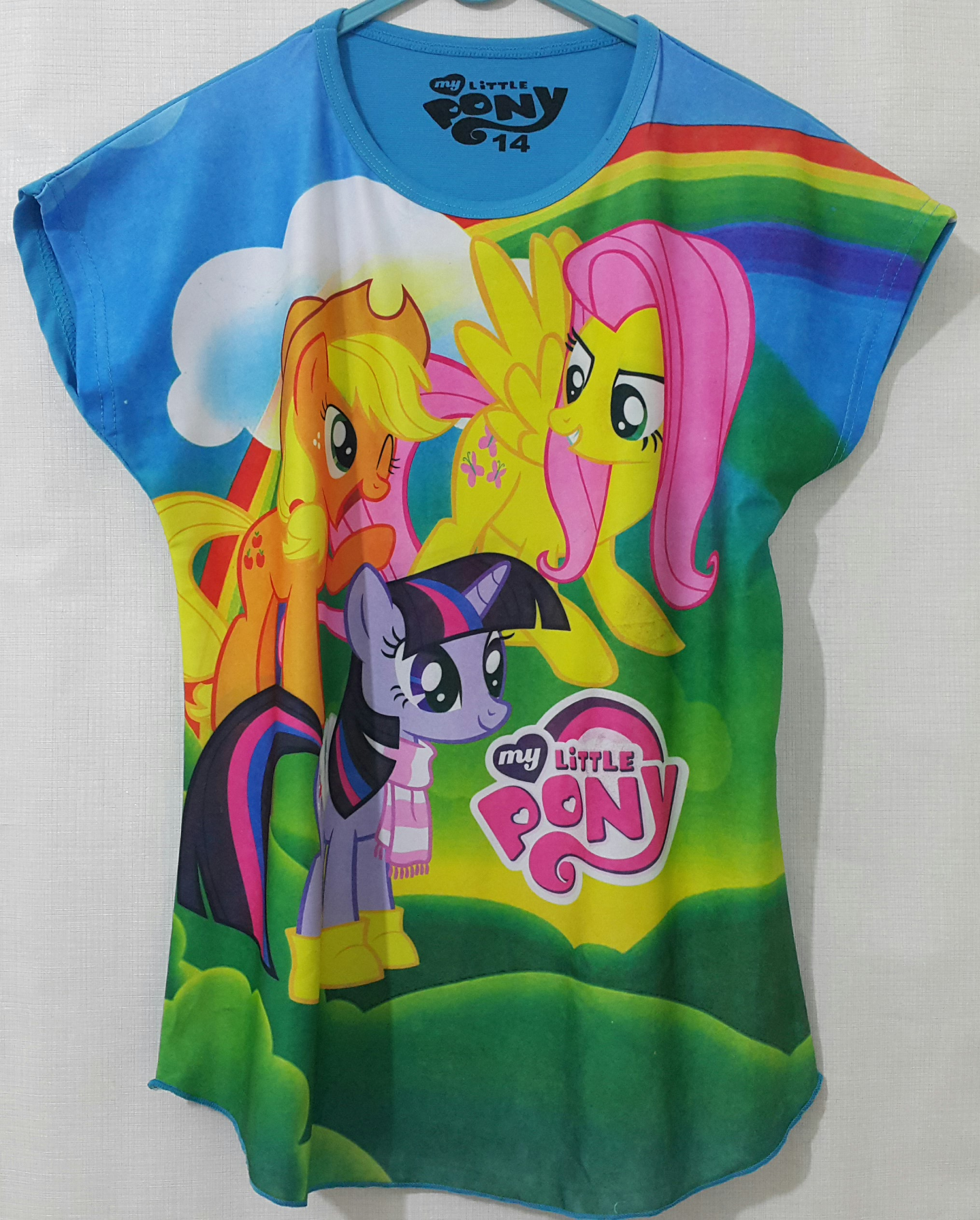 batwing pony hair pink rainbow