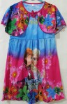 Dress frozen  flower kepang (S,M,L)
