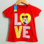 "kaos anak minnie mouse LOVE"" SMILE KIDS"" (1-6)"