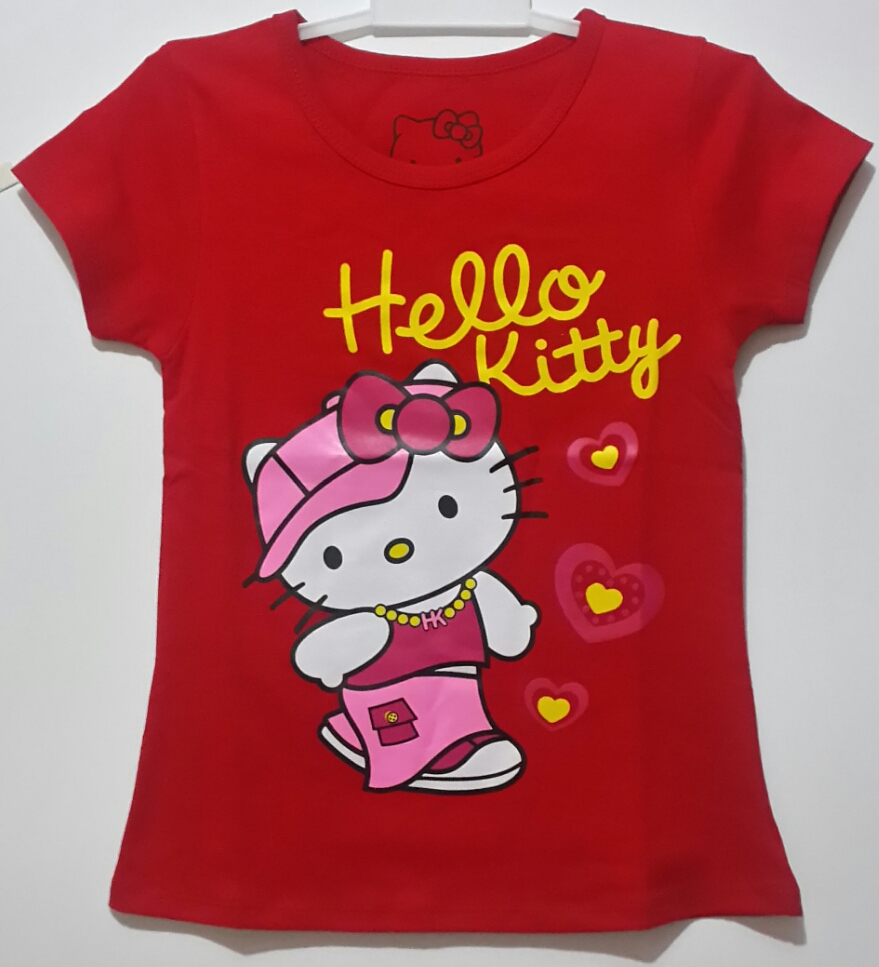hello kitty red walking