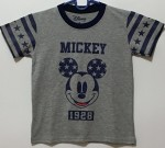 kaos anak mickey mouse abu star (1-6)