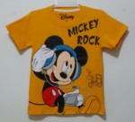 kaos mickey rock orange (1-6) disney