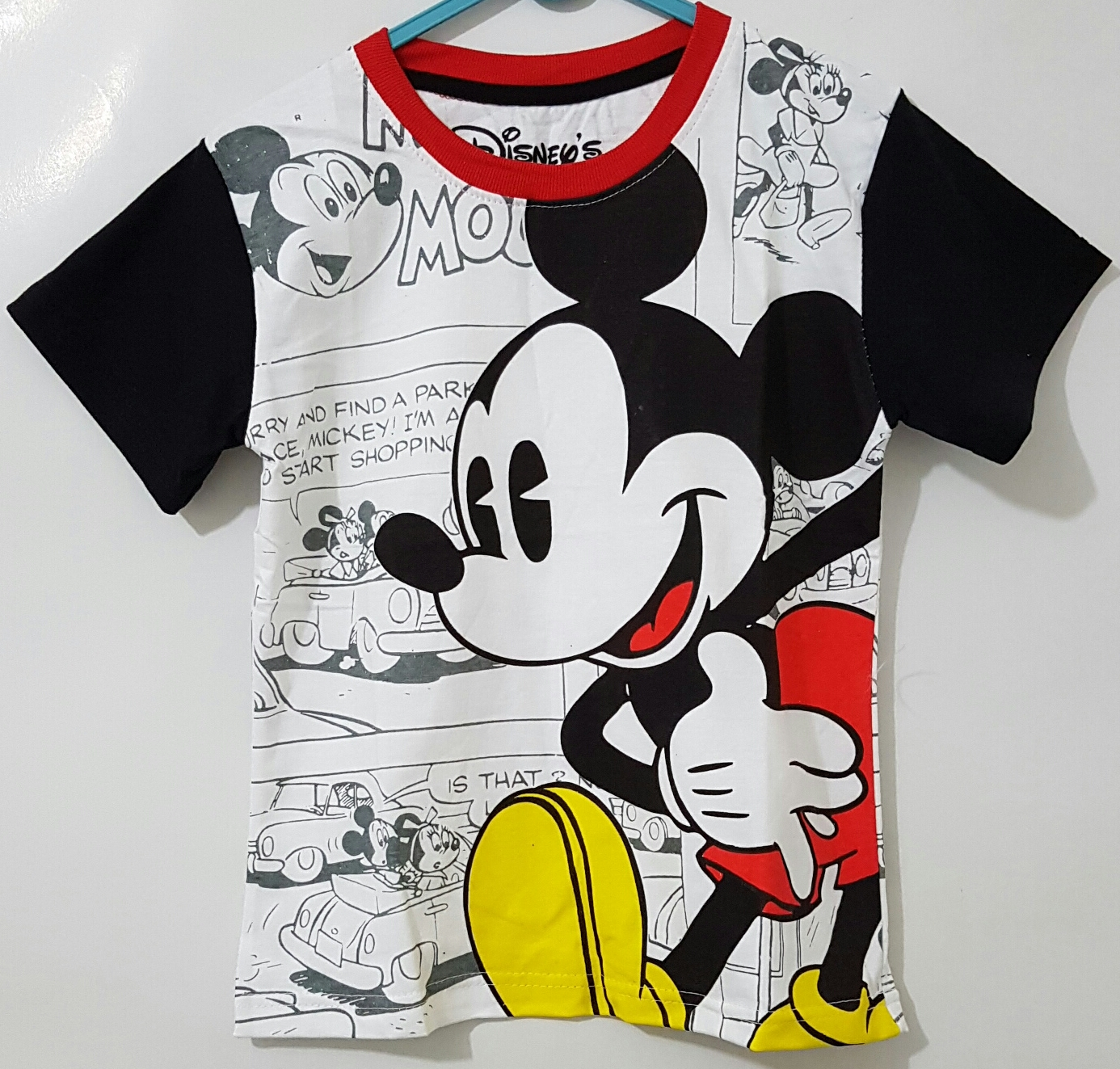 mickey comic hitam