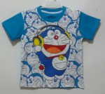 kaos doraemon listen music blue(1-6) disney jk