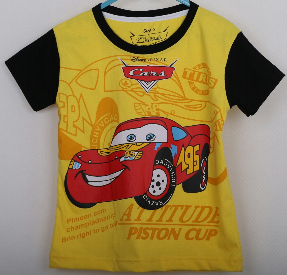 kaos car mcqueen piston cup kuning