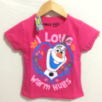 "kaos olaf ""warm hugs""pink (1-6) smile kids"