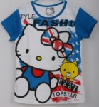 kaos hello kitty fashion biru (1-6) disney