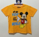 kaos mickey mouse orange on top the world (1-6)
