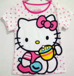 Kaos hello kitty polkadot pink(1-6)