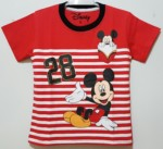 kaos mickey mouse salur red(1-6)