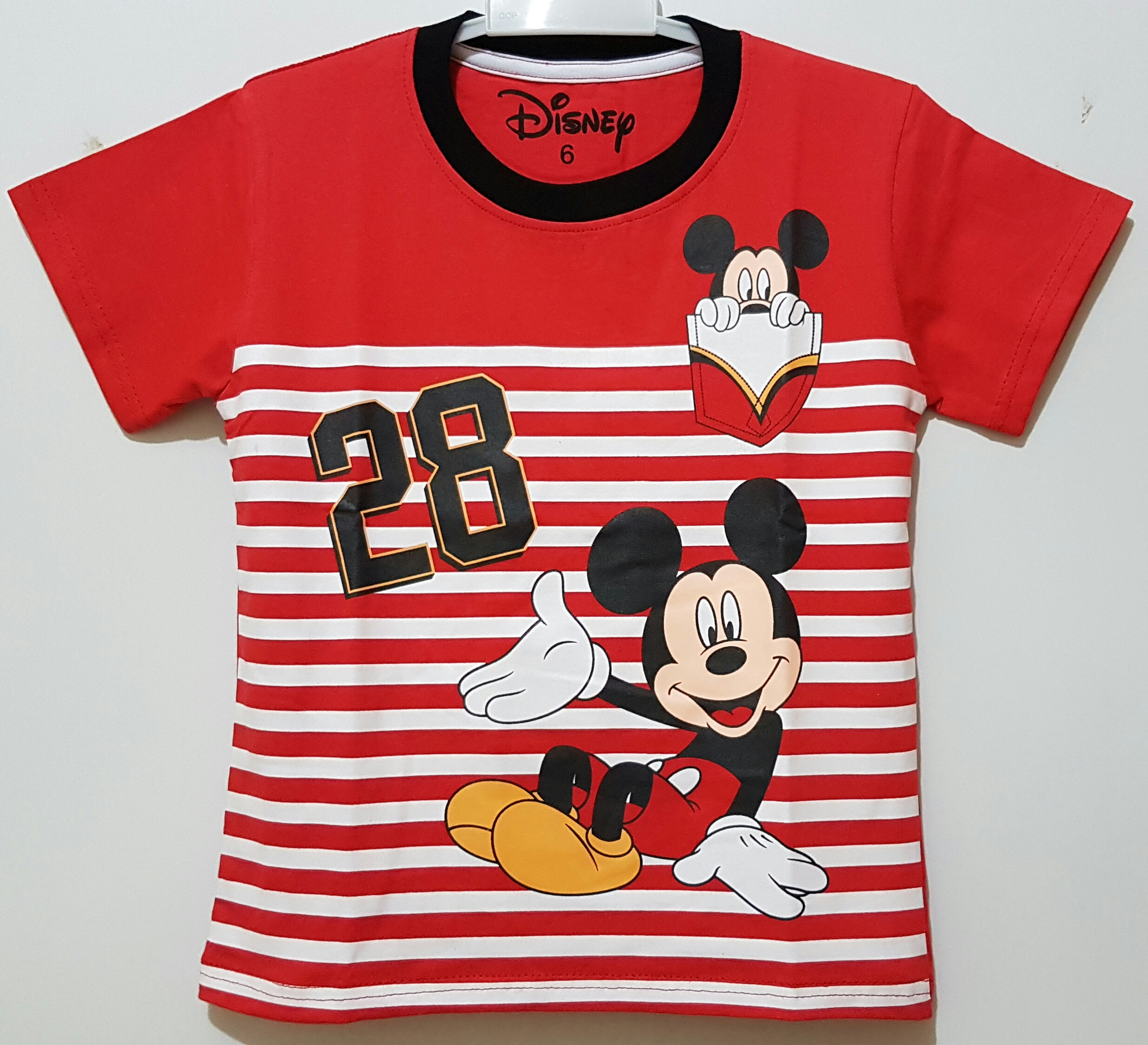mickey mouse salur red
