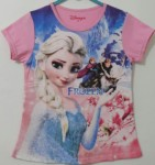 kaos frozen printing princess ride pink(1-6)disney