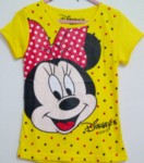 kaos minnie polkadot kuning(1-6),Disneys