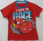 "kaos mcqueen ""i love race"" red 1-6,disneys"