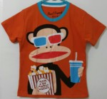 "kaos paul frank""pop corn"" orange 1-6,disney"