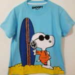 kaos snoopy surfing blue sky 1-6, Disney