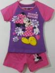 setelan minnie mouse flower ungu 1-6,disney